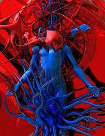 Identität, Freak, Kosmisch, Blau