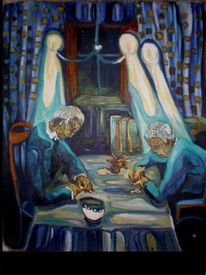 Malerei, Menschen, 2012, Stille