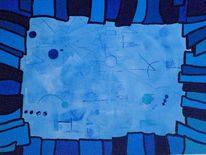 Geometrische formen, Abstrakt, Gebilde, Aquarium