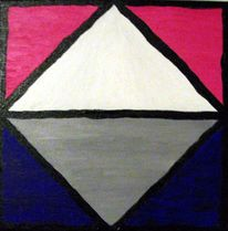 Abstrakt, Acrylmalerei, Malerei, Morgenrot
