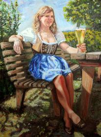 Bier, Frau, Dirndl, Bayer