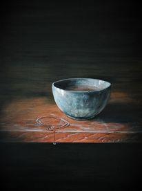 Realismus, Stille, Schüssel, Holztisch