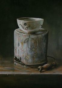 Porzellanmalerei, Schüssel, Schüsselmalerei, Kanne