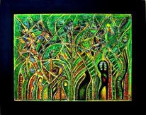 Gelb, Abstrakt, Grün, Der welten gärten