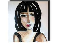 Haare, Ölpastellkreiden, Malerei, Abstrakt