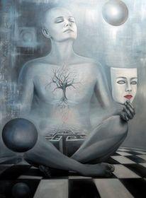 Figur, Surreal, Fantasie, Maske