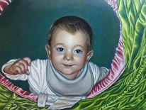 Ölmalerei, Portrait, Baby, Malerei