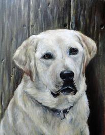 Ölmalerei, Gemälde, Hund, Prortait