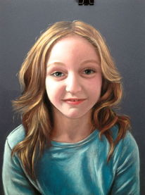 Portrait, Pastellmalerei, Malerei