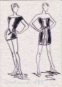 Formen, Mode, Mischtechnik, Kollektion