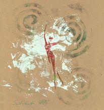 Mischtechnik, Bewegung, Zeichnung, Tanz