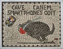 Cave canem, Attenti al cane, Vorsicht hund, Mosaik