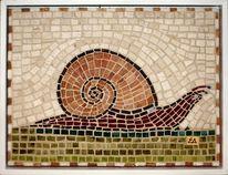 Mosaik, Lumaca, Schnecke, Kunsthandwerk