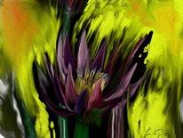 Blüte, Sonnenlicht, Digitale kunst