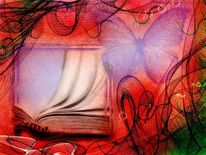 Buch, Ungelesene, Malerei