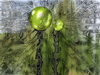 Fraktalkunst, Grün, Licht, Digitale kunst
