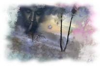 Leise, Waldsprache…, Malerei, Digitale malerei