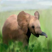 Baby elefant, Malerei