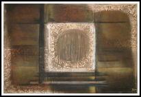 Ölmalerei, Braun, Modern, Abstrakt