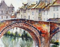 Aquarell, Brücke