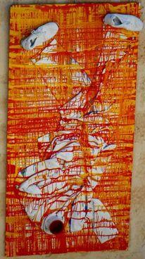 Tarnen, Rot, Gelb, Mischtechnik