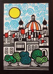 Kirche, Fahne, Malta, Malerei