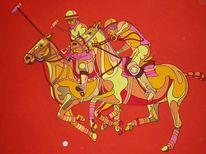 Sport, Pferde, Polo, Malerei