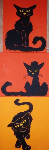 Schwarze katze, Malta, Katze, Malerei