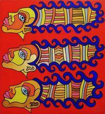 Rot, Lang, Schwestern, Malerei