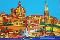 Sliema, Valletta, Malta, Meer