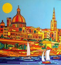 Valletta, Sonne, Malta, Meer