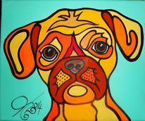 Hund, Malta, Malerei