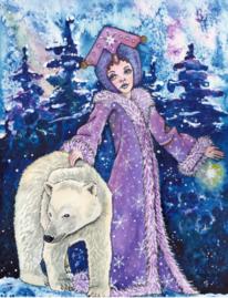 Schneekönigin, Tanne, Schnee, Eisbär