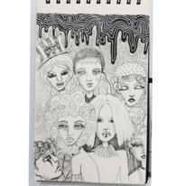 Skizzenbuch, Comic, Gesicht, Fantasie