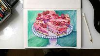 Aquarellmalerei, Kuchen, Illustartion, Aquarell