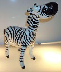 Dekoration, Zebra, Pappmaché, Tiere