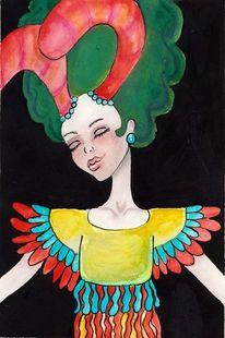 Illustration, Traum, Frau, Fantasie