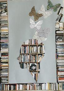 Schmetterling, Fliegen, Buch, Jklö