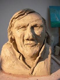 Portraitbüste, Depardieu, Wein, Weingut