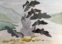 Vogel, Vogelfrau, Weite, Himmel
