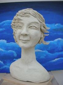 Haare, Wind, Windsbraut, Frau