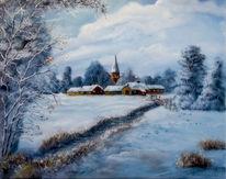 Dorf, Verschneien, Winter, Schnee