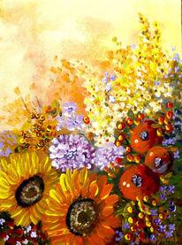 Strauß, Leuchten herbst, Blumen, Früchte beeren