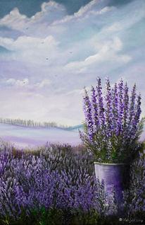 Lila, Wolken, Blüte, Duft