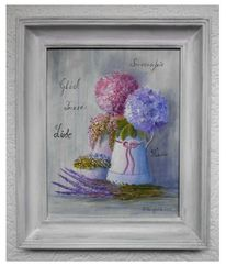 Romantik, Schleife, Malerei, Hortensien