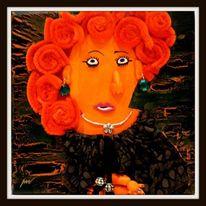 Portrait, Menschen, Blindportrait, Collage