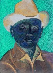 Gesicht, Psychedelisch, Brynner, Portrait