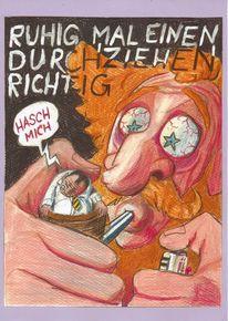 Satire, 2012, Gesicht, Hasch