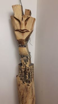 Skulptur, Holz, Abstrakt, Kunsthandwerk