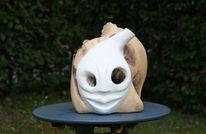 Maske, Eule, Holzskulptur, Skulptur